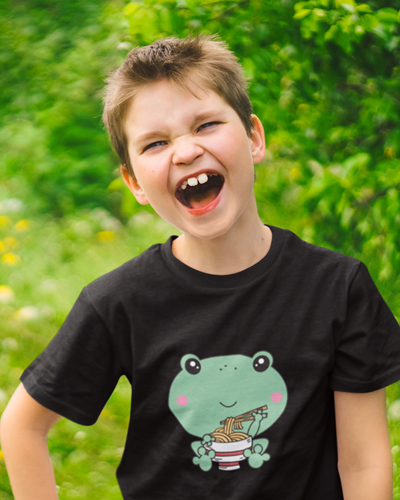 funny frog ramen tshirt